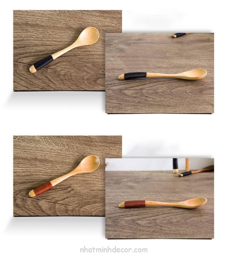 Thìa gỗ phong cách Nhật Bản (cỡ nhỏ) 6
