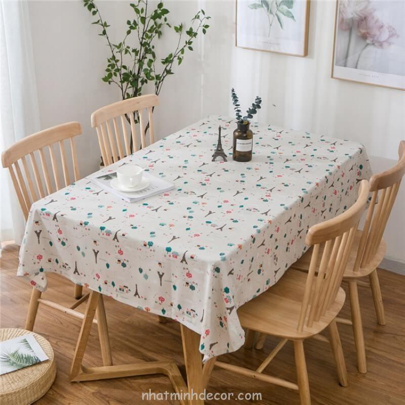 Khăn trải bàn caro, vải bố, vải canvas (10+ Mẫu) 13