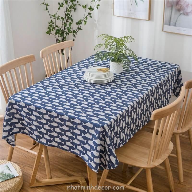Khăn trải bàn caro, vải bố, vải canvas (10+ Mẫu) 16