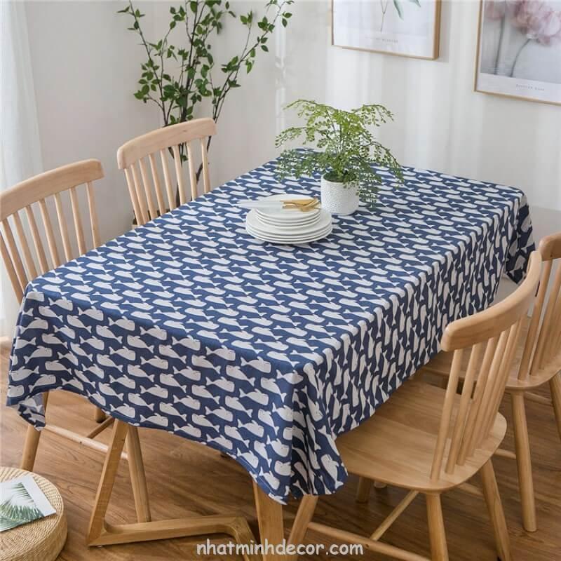 Khăn trải bàn caro, vải bố, vải canvas (10+ Mẫu) 7