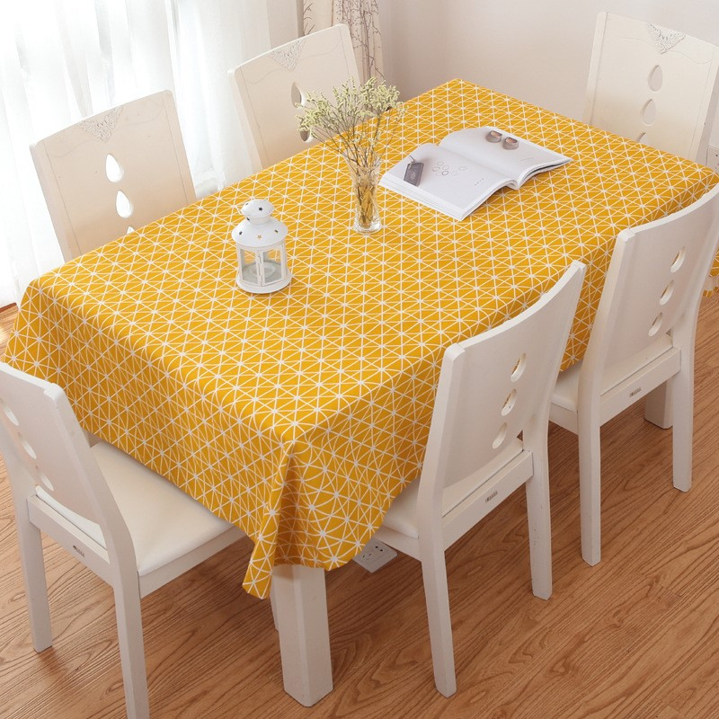 Khăn trải bàn caro, vải bố, vải canvas (10+ Mẫu) 8