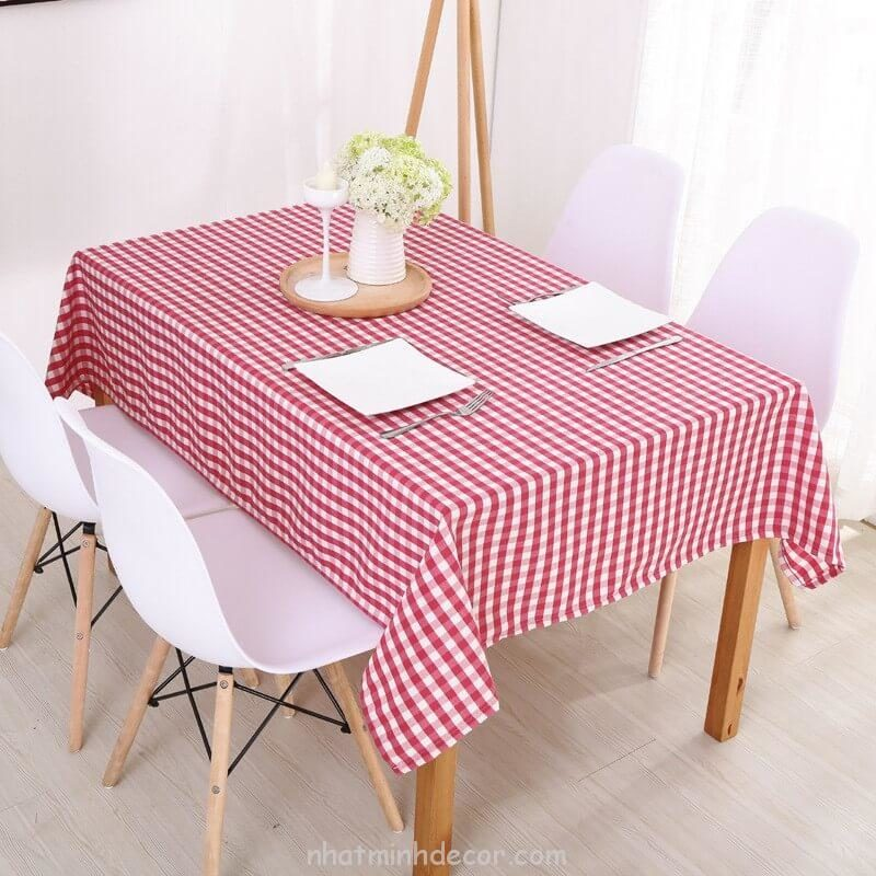 Khăn trải bàn caro, vải bố, vải canvas (10+ Mẫu) 15