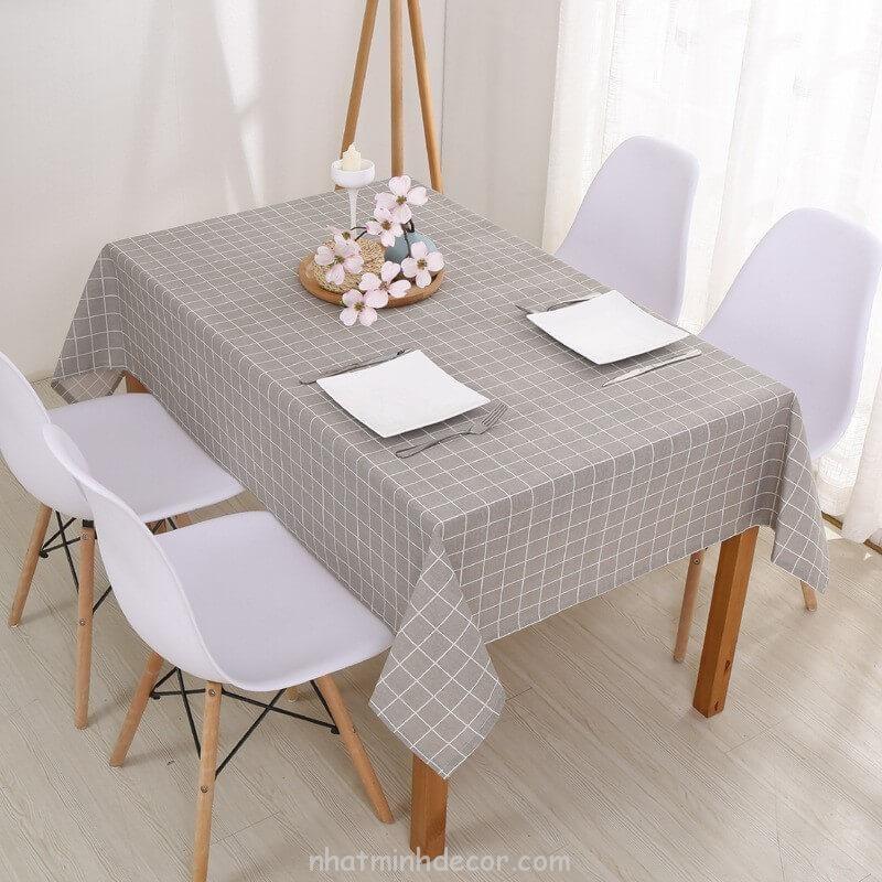 Khăn trải bàn caro, vải bố, vải canvas (10+ Mẫu) 14