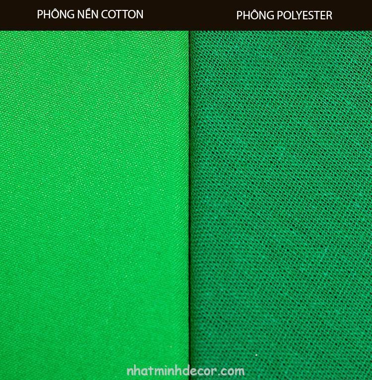 Phông vải quay phim xanh lá Cotton Muslin cao cấp 3